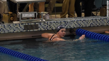 Almost a year after completing treatment, Marshall competed in the Division II NCAA Swimming & Diving Championships. Her team won the national title.