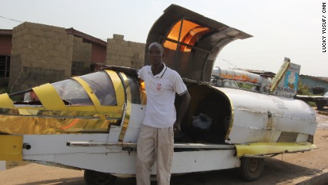 Kehinde Durojaiye and his aero-amphibious jet car
