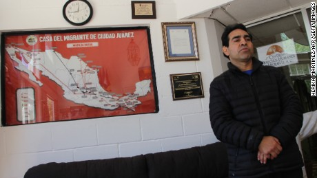 Roberto Beristain of Mexico, who went to the US as an undocumented migrant 20 years ago, is seen here at the Migrant House shelter in Ciudad Juarez, Chihuahua, Mexico on April 5, 2017, after being deported from the US city of Indianapolis.  Although Beristain married a US citizen - who voted for President Donald Trump - he was arrested two months ago, and deported Tuesday night to Ciudad Juarez. He and his wife have three sons and own a restaurant in Indiana. / AFP PHOTO / HERIKA MARTINEZ        (Photo credit should read HERIKA MARTINEZ/AFP/Getty Images)