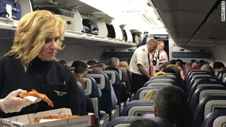 Delta throws pizza party for stranded passengers