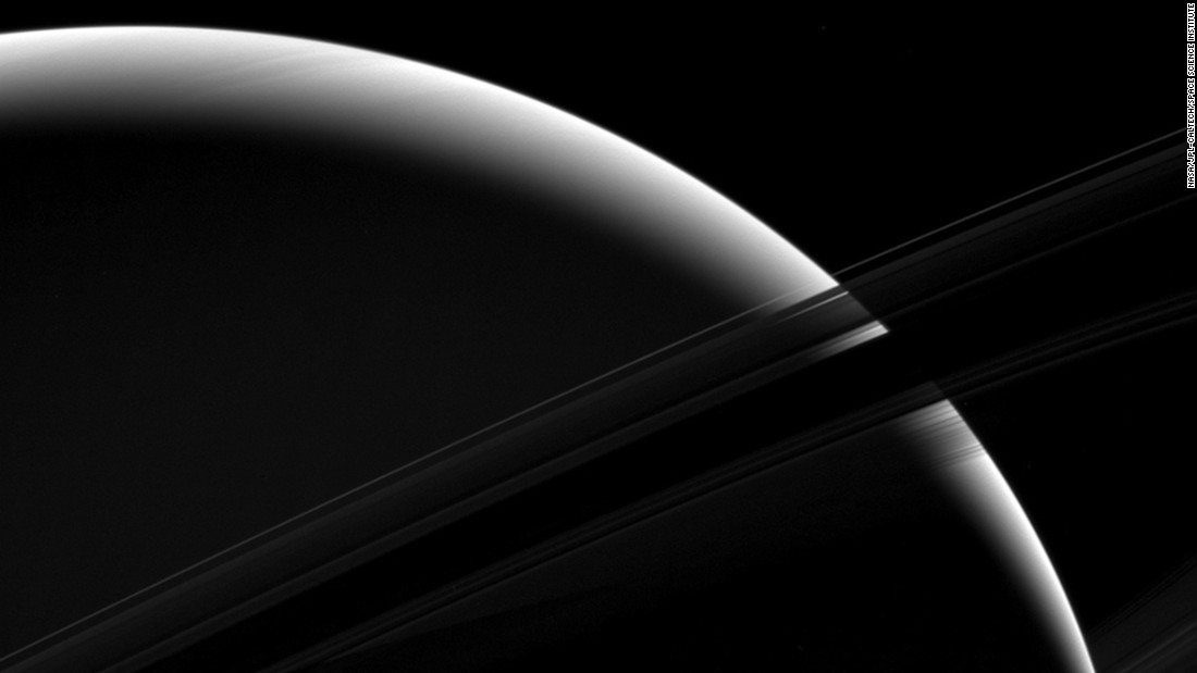 "This view of Saturn was taken by NASA's Cassini spacecraft, which has been orbiting the ringed planet for more than a decade. The mission <a href=""http://www.cnn.com/videos/us/2017/04/04/nasa-cassini-saturn-space-mission-ending-jpm-orig-mobile.cnn"" target=""_blank"">is scheduled to end</a> later this year."