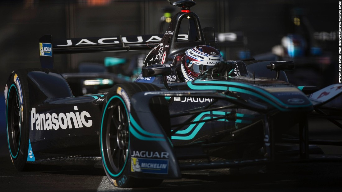 Jaguar Racing drivers Adam Carroll (pictured) and Mitch Evans also gained their first points in Formula E. Evans came home fourth while Northern Irishman Carroll was eighth.