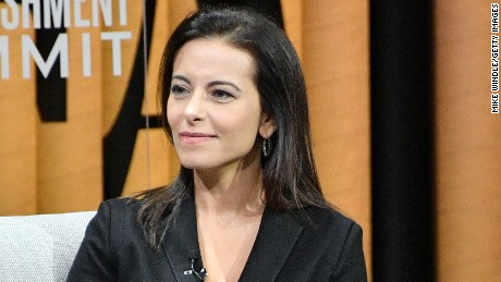 "SAN FRANCISCO, CA - OCTOBER 20:  President of the Goldman Sachs Foundation, Dina Powell, speaks onstage during ""The Next Wave of Philanthropy"" at the Vanity Fair New Establishment Summit at Yerba Buena Center for the Arts on October 20, 2016 in San Francisco, California.  (Photo by Mike Windle/Getty Images for Vanity Fair)"