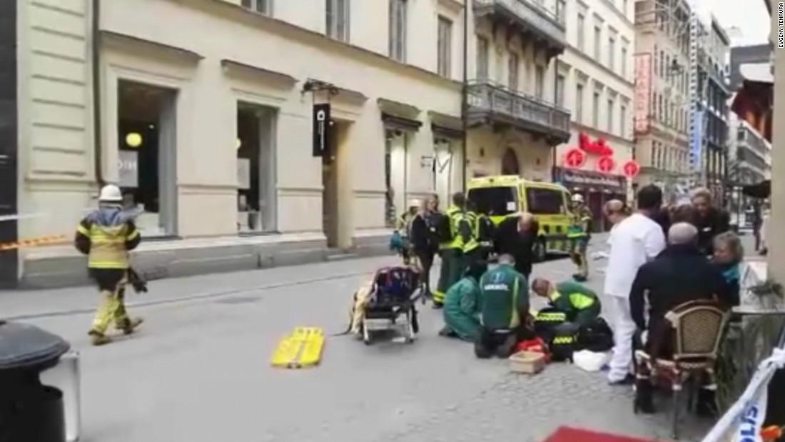 Video shows scene after Sweden attack