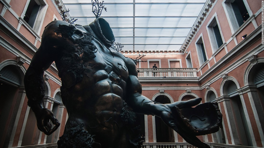 "Damien Hirst's latest exhibition, ""Treasures from the Wreck of the Unbelievable,"" opens in Venice this week."