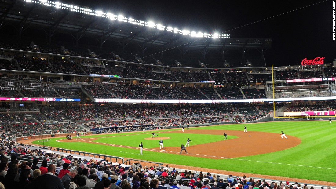 SunTrust Park is Atlanta's new ballpark. Its first event was an exhibition game between the Braves and the New York Yankees on March 31.