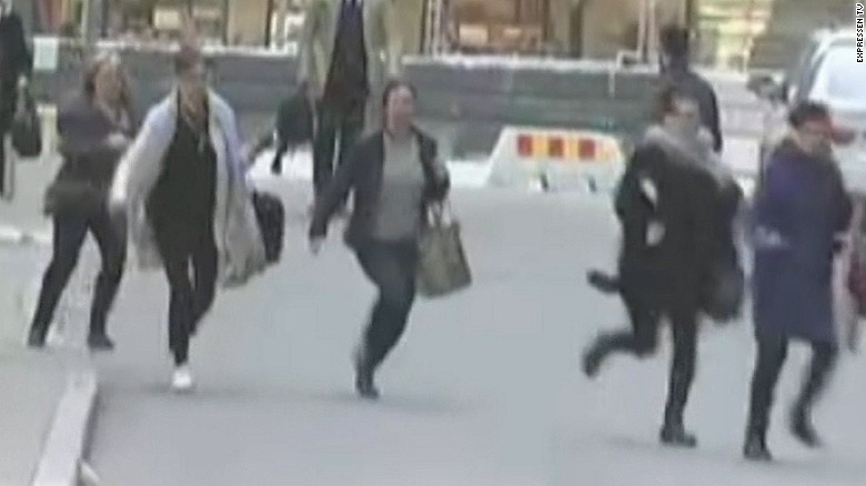 People seen running in streets of Stockholm