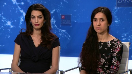 On GPS: Amal Clooney takes on ISIS