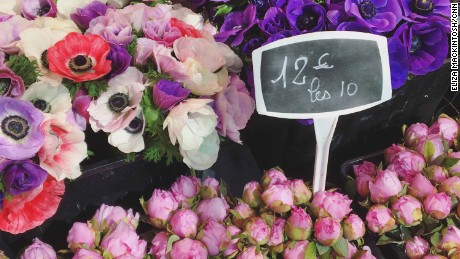 Peonies for sale in Cours Saleya flower market.