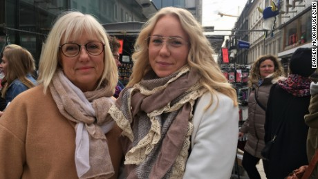 Eva Elestrom, 60, a secretary at a hospital in Uddevalla on the west coast of Sweden was visiting Stockholm with her 23-year-old daughter, Isabelle.