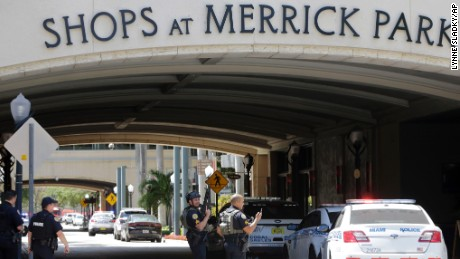 Shots rang out at the Shops at Merrick Park mall in Coral Gables on Saturday.