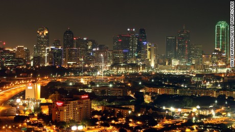 DALLAS, TX - JUNE 06:  A general view of the skyline of downtown Dallas, Texas as the American Airlines Center can be seen the night before Game Four of the 2011 NBA Finals on June 6, 2011 in Dallas, Texas. NOTE TO USER: User expressly acknowledges and agrees that, by downloading and/or using this Photograph, user is consenting to the terms and conditions of the Getty Images License Agreement  (Photo by Mike Ehrmann/Getty Images)