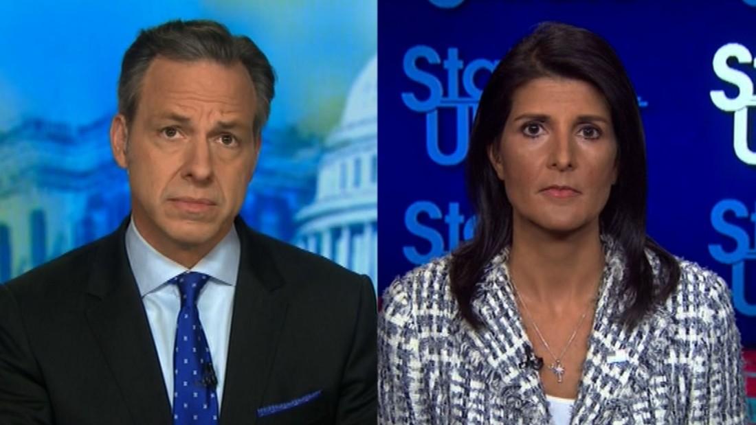 Tapper presses Haley on Syria strike