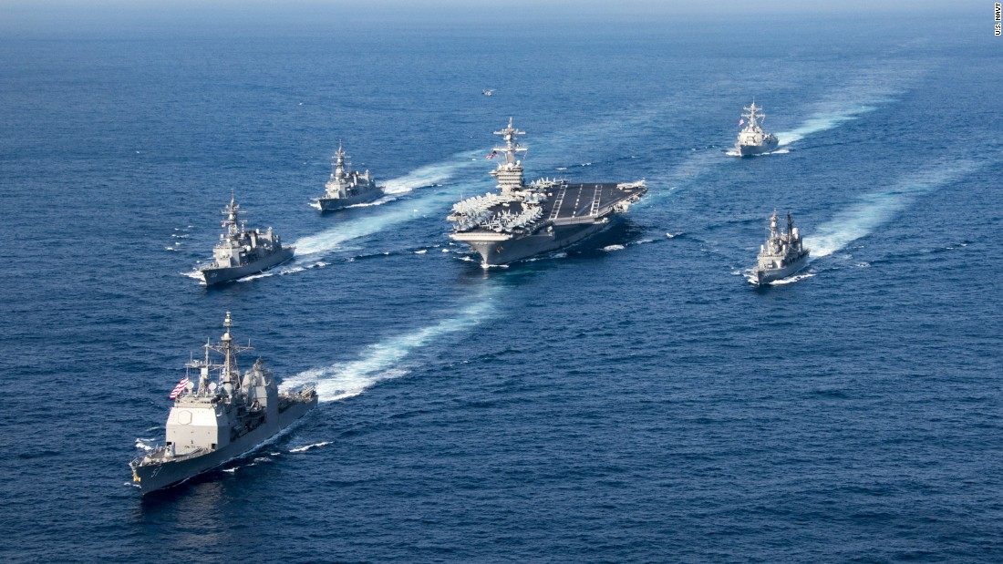 US flexes naval muscle in Asia ahead of Trump's visit ...