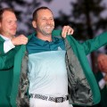 Sergio Garcia Masters green jacket ceremony