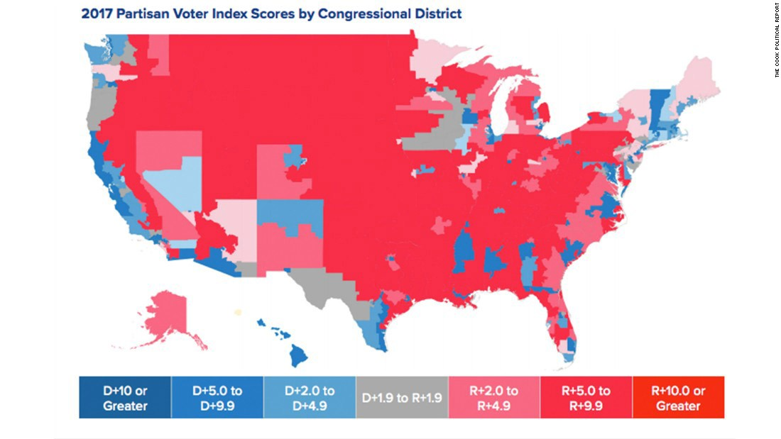 How Gerrymandering Cost Democrats The House In An Daily Kos - Us party map