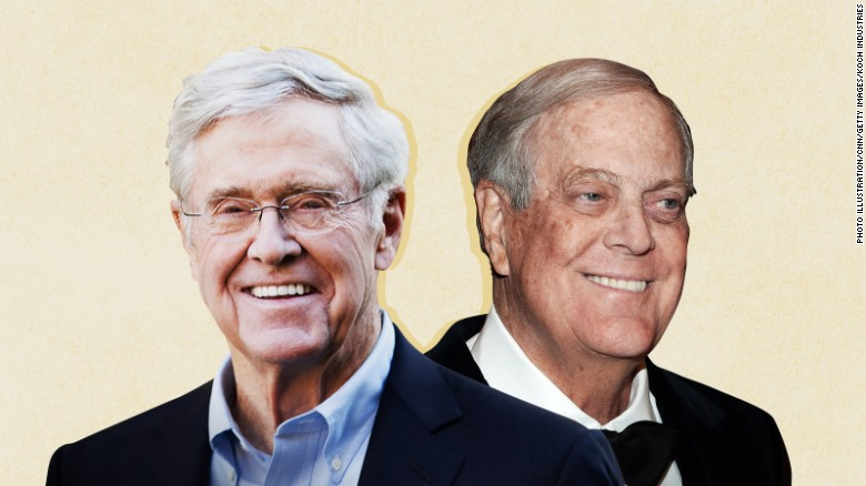 Clash of GOP titans as Trump v Kochs feud escalates