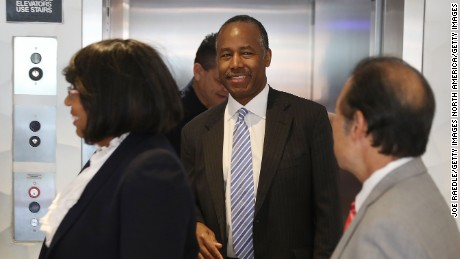 MIAMI, FL - APRIL 12:  U.S. Housing and Urban Development  Secretary Ben Carson visits Colllins Park apartment complex on April 12, 2017 in Miami, Florida.  Secretary Carson is on a national listening tour to hear from the people and organizations who rely on and support public housing. (Photo by Joe Raedle/Getty Images)