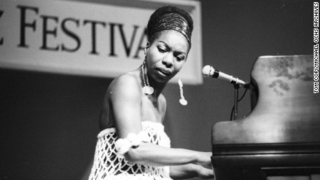 Nina Simone on stage around 1950.  (Photo by Tom Copi/Michael Ochs Archives/Getty Images)