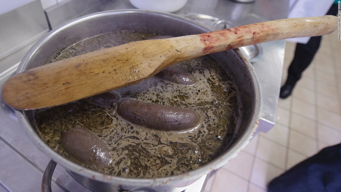 "Estonian blood sausage is a popular dish for Christmas. Many cultures have similar dishes. In Poland, it's made from pork or beef and is <a href=""http://www.cnn.com/2014/11/10/travel/europe-sausages/"">called kiszka</a>. In Spain, it's morcilla. England has its black pudding, France its boudin noir and Uruguay its morcilla dulce. Blood sausage is a good source of iron but high in fat and salt."