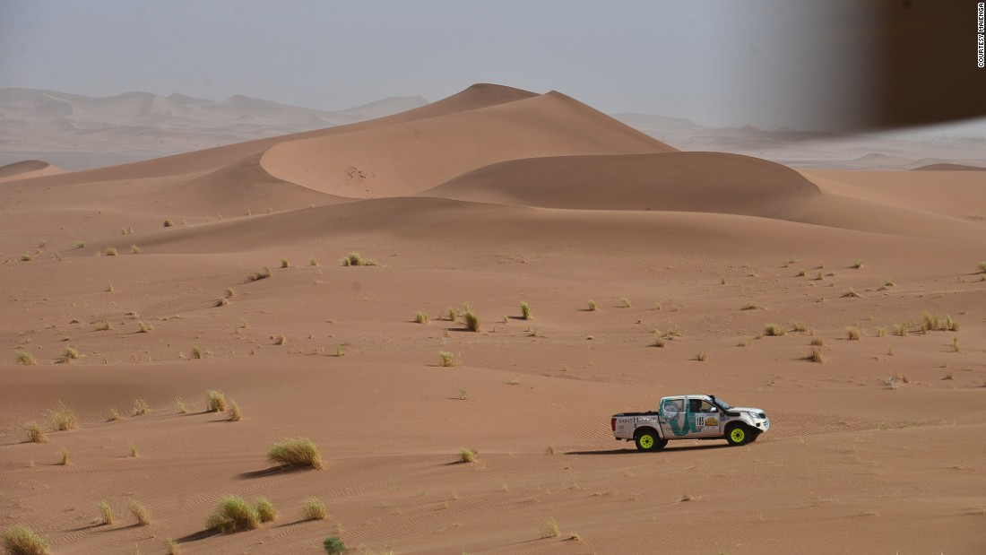 The Rallye Aicha des Gazelles du Maroc is an all-female driving challenge across Morocco.