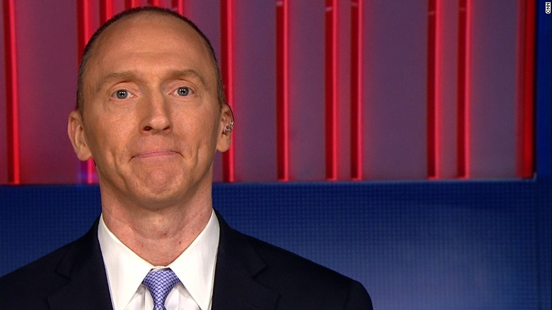 A screen grab of ex-Trump adviser Carter Page on CNN's The Lead.