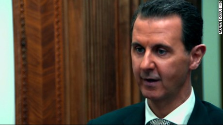 Assad denies chemical attack in interview