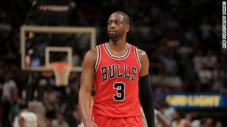 MIAMI, FL - NOVEMBER 10: Dwyane Wade #3 of the Chicago Bulls looks on during the second half of the game against the Miami Heat at American Airlines Arena on November 10, 2016 in Miami, Florida. NOTE TO USER: User expressly acknowledges and agrees that, by downloading and or using this photograph, User is consenting to the terms and conditions of the Getty Images License Agreement. (Photo by Rob Foldy/Getty Images)
