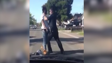 Cop beats man accused of jaywalking