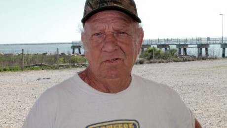 Leo Dotson, 67, is the owner of Dyson Seafood in Cameron, Louisiana.