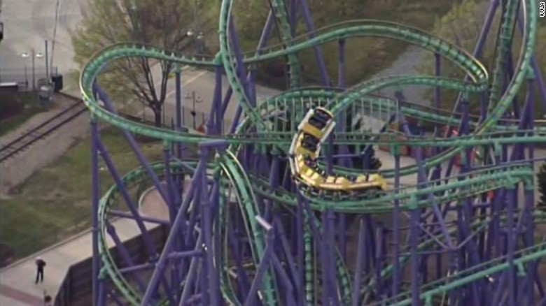 24 riders stuck on Six Flags roller coaster