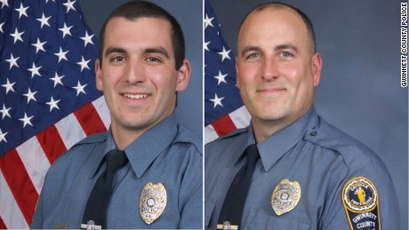 Officer Robert McDonald, left, and Sgt. Michael Bongiovanni were fired from the Gwinnett County Police department.