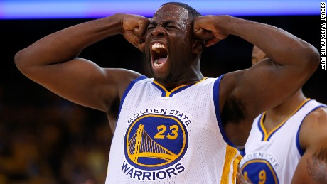 OAKLAND, CA - MAY 21:  Draymond Green #23 of the Golden State Warriors reacts after a play in the third quarter against the Houston Rockets during game two of the Western Conference Finals of the 2015 NBA PLayoffs at ORACLE Arena on May 21, 2015 in Oakland, California. NOTE TO USER: User expressly acknowledges and agrees that, by downloading and or using this photograph, user is consenting to the terms and conditions of Getty Images License Agreement.  (Photo by Ezra Shaw/Getty Images)