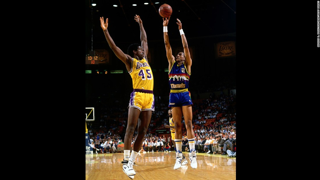 Alex English, right, was a prolific scorer who made eight All-Star teams in his Hall of Fame career. He was drafted 23rd overall in 1976.