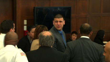 Aaron Hernandez became emotional after the verdict was read.