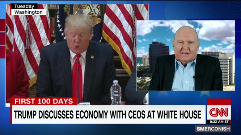 Welch on United CEO mistakes, Trump CEO meeting _00023514
