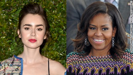 Lily Collins geeked out when she received a letter from Michelle Obama.