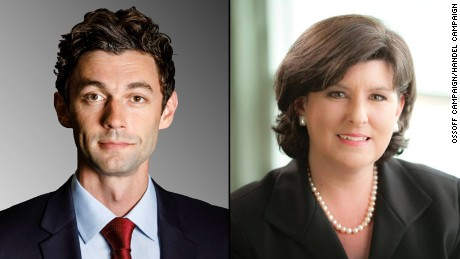 Jon Ossoff and Karen Handel