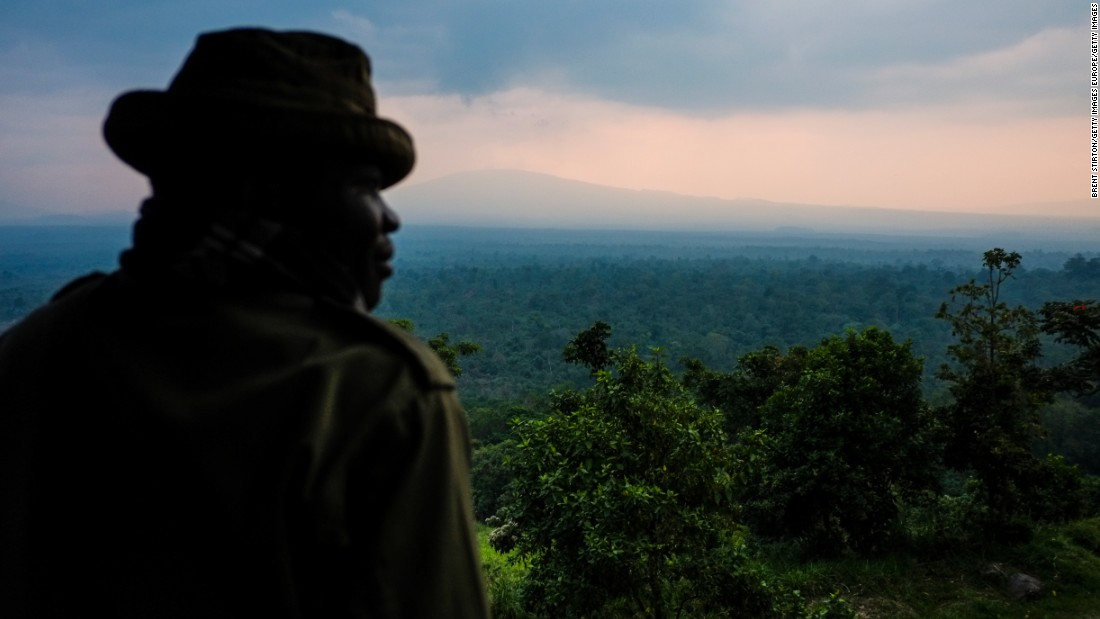 """The park brings a lot of different kinds of services that are benefiting the community,"" Katembo told CNN. <br /><br />""For instance you have the protected fisheries where many fishermen are able to sustain their families and are able to have income generation.""<br /><br />Pictured, a ranger looks out over Virunga."