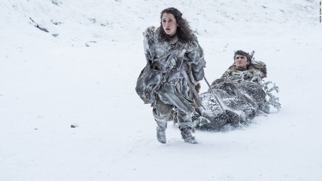 Ellie Kendrick as Meera Reed and Isaac Hempstead Wright as Bran Stark