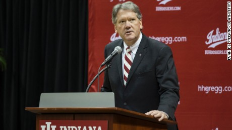 Indiana University Athletic Director Fred Glass. Under Indiana's new policy, any prospective student-athlete who has been convicted of or pleaded guilty to a felony involving sexual violence is ineligible.
