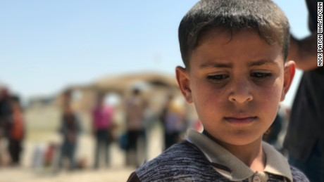 Many children are among the families who've fled Mosul, with harrowing stories of their treatment by ISIS fighters.