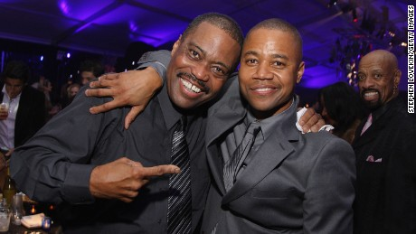 NEW YORK - OCTOBER 19:  Cuba Gooding Sr. and actor Cuba Gooding Jr.attend the after-party of the world premiere of American Gangster at the Apollo Theater on October 19, 2007 in New York City.