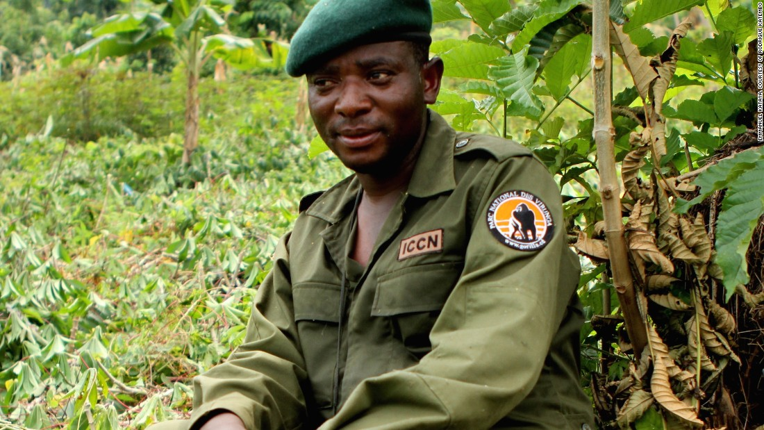 "Rodrigue Mugaruka Katembo was forced to be a child soldier in the armed conflict that has engulfed the Democratic Republic of Congo for the past few decades. <br /><br />Today, as a ranger he risks his life to protect Congo's critically endangered species. He's one of six recipients of this year's prestigious <a href=""http://www.goldmanprize.org/prize-recipients/current-recipients/"" target=""_blank"">Goldman Environmental Prize</a>. <br /><br />Pictured: Katembo during an anti-poaching operation in Virunga National Park."