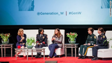An all-female law enforcement panel at a recent women's conference.
