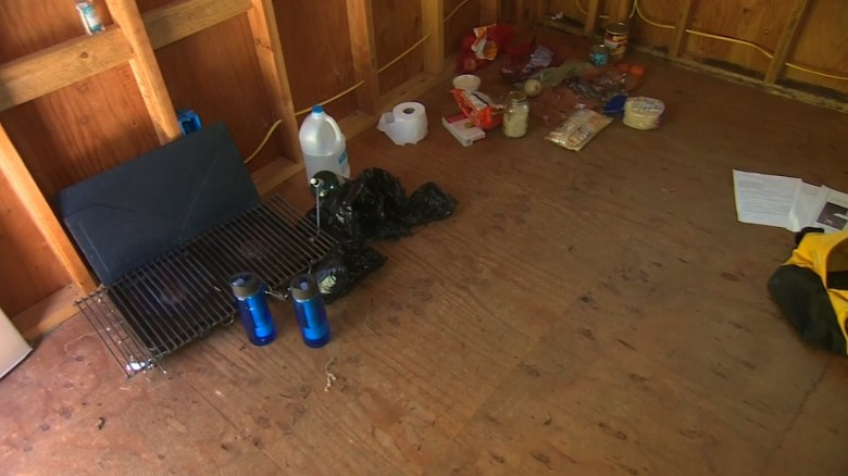 Inside the cabin where Tad Cummins was found