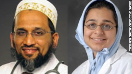 Dr. Fakhruddin Attar (left) and  Dr. Jumana Nagarwala