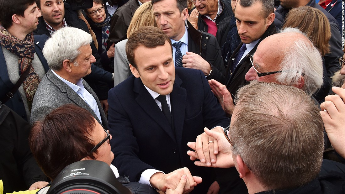 French presidential candidate Macron targeted by hackers, cyber firm says