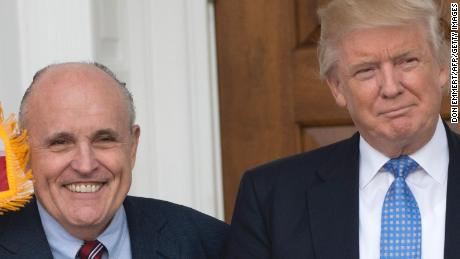 Sign of solidarity? Trump and Giuliani had lunch at President's golf course