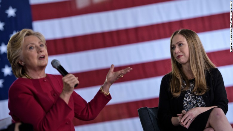 Chelsea Clinton responds to joke about mom